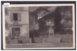 VAL D'ILLIEZ - PLACE ET MONUMENT REY BELLET - TB - VS Valais