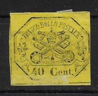 Italian States STATO PONTIFICIO Papal States 40c Imperforated Reprint/forgerie/original - Papal States