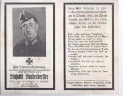 AK-div.27- 86   Sterbebild  Gefreiter  Leopold Vorderderfler , Gefallen 1944  Italien - 34 Jahre Alt - Documents
