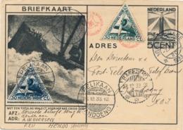 Nederland / Nederlands Indië - 1933 - Briefkaart G234 Met Postjager Naar Bandoeng En Met Pelikaan Retour - Niederländisch-Indien
