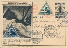 Nederland / Nederlands Indië - 1933 - Briefkaart G234 Met Postjager Naar Bandoeng En Met Pelikaan Retour - Nederlands-Indië