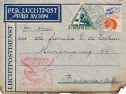 Nederlands Indië - 1934 - Brief Uit Uiver Crash Met Dienstenvelop - Deelt Den Afzender Van Dit Stuk.... - Nederlands-Indië