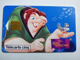 """Télécarte 5 Unités GN243 """"Le Bossu De Notre-Dame""""06/96 - GEM1A - TBE - Côtée 40€ - Frankrijk"""