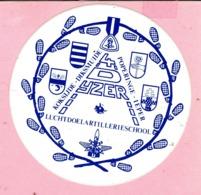 Sticker - 4 D IJZER - LuchtdoelArtillerieschool - KOKSIJDE DIKSMUIDE POPERINGE IEPER - Pegatinas
