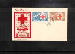 Kenya Uganda Tanganyika 1963 Red Cross FDC - Croix-Rouge