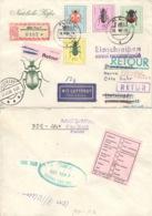 DDR 1411,1413/15 Auf  Retour-R-Brief Nach Dänemark - [6] République Démocratique