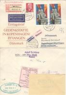 DDR 2x1512,935 Auf Retour-R-Brief Nach Dänemark - [6] République Démocratique