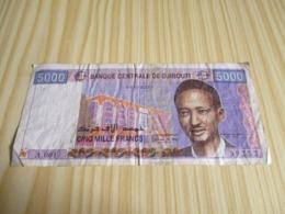 Djibouti.Billet 5000 Francs. - Djibouti