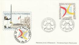 Rare Enveloppe Premier Jour Bicentenaire De L'école Polytechnique - 1990-1999