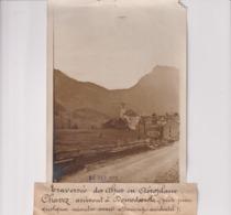 TRAVERSÉE DES ALPES AÉROPLANE CHAVEZ DOMODOSSOLA ATTERRISSAGE ACCIDENTEL 18*13CM Maurice-Louis BRANGER PARÍS (1874-1950) - Aviación