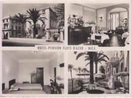 CPSM Nice - Hôtel-Pension Flots D'Azur - Promenade Des Anglais (avec 4 Vues) - Cafés, Hotels, Restaurants