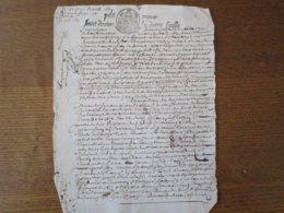 30 AVRIL 1684 PETIT PAPIER HUICT.DENIERS LA DEMY FEUILLE CNALITE.DAMIENS - Gebührenstempel, Impoststempel