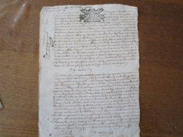 24 NOVEMBRE 1689 GEN. D AMIENS HVIT DEN. - Cachets Généralité