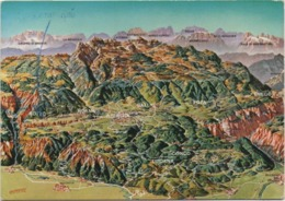 Cartolina Con Carta Geografica Altopiano Di Asioago Sette Comuni (VIcenza: Rotzo Roana Asiago Gallio Foza Enego Lusiana) - Cartes Géographiques