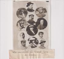 LES CONCURRENTS DU GRAND PRIX DE FRANCE  FOURNIER HEMERY GABRIEL NIGAL.. 18*13CM Maurice-Louis BRANGER PARÍS (1874-1950) - Aviación