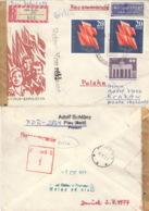DDR 2x2219,1879 Auf Retour-R-Brief Nach Polen - [6] République Démocratique