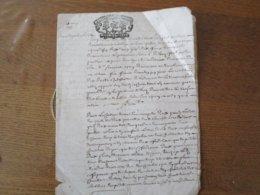 10 MAI 1718 SEIZE DENIER GEN. DE.ROVEN SAISIE ET APPOSITION DE SELLES PAR JEAN BIOR - Cachets Généralité