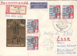 DDR 4x2223 Auf Retour-R-Brief In Die CSSR - [6] République Démocratique