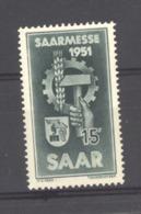 Sarre  :  Yv  293  ** - 1947-56 Protectorate