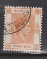 HONG KONG Scott # 156 Used - King George VI Definitive - Hong Kong (...-1997)