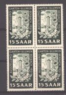 Sarre  :  Yv  294  **    Bloc De 4 - 1947-56 Occupation Alliée