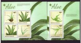 Antigua And Barbuda, 2014. Aloe (s/s+block) - Medicinal Plants