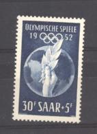 Sarre  :  Yv  302  **     JO Helsinki - 1947-56 Occupation Alliée