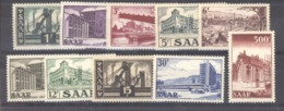 Sarre  :  Yv  306-15  * - 1947-56 Occupation Alliée