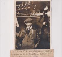MARIO POLA ACCOMPAGNAIT LAFFONT PARIS BRUXELLES ÉGALEMENT TUÉ  18*13CM Maurice-Louis BRANGER PARÍS (1874-1950) - Aviación