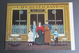 CPM Jan Balet Maurice Lafontaine,  Café Restaurant Peinture Vaine - Autres Illustrateurs