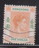 HONG KONG Scott # 163B Used - King George VI Definitive - Hong Kong (...-1997)
