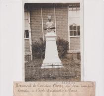 MONUMENT AVIATEUR CHAVEZ TRAVERSEE ALPES L'ECOLE D'ELECTRICITÉ DE PARIS 18*13CM Maurice-Louis BRANGER PARÍS (1874-1950) - Aviación