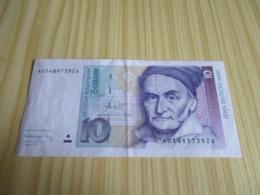 Allemagne.Billet 10 Deutsche Mark 01/08/1991. - 10 Deutsche Mark