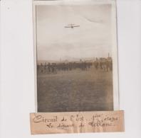 CIRCUIT DE L'EST 1ÈRE ÉTAPE LE DÉPART DE LEBLANC  18*13CM Maurice-Louis BRANGER PARÍS (1874-1950) - Aviación