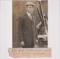WILBUR WRIGHT CELEBRE INVENTEUR AVIATEUR ANNONCER LA MORT  18*13CM Maurice-Louis BRANGER PARÍS (1874-1950) - Aviación