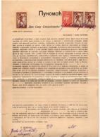 04.03.1920. KINGDOM OF SHS,CHAIN BREAKERS,VERIGARI, ZEMUN, 3x20 KR,1x1 KR, POSTAL STAMPS AS REVENUE,POWER OF ATORNEY - 1919-1929 Kingdom Of Serbs, Croats And Slovenes
