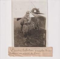 AVIATEUR TABUTEAU MONOPLAN MORANE SAULNIER DÉPART DE PAU 18*13CM Maurice-Louis BRANGER PARÍS (1874-1950) - Aviación