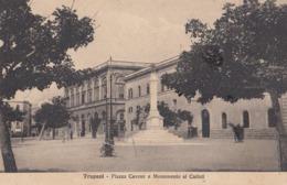 TRAPANI-PIAZZA CAVOUR E MONUMENTO AI CADUTI-CARTOLINA VIAGGIATA IL 27-10-1929 - Trapani