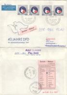 DDR 4x3079 Auf Retour-Brief Nach Österreich - Briefe U. Dokumente