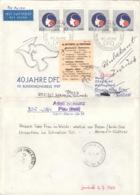 DDR 4x3079 Auf Retour-Brief Nach Italien - [6] République Démocratique