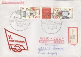 DDR 3086/87 Auf R-Brief In Die Sowjetunion - Briefe U. Dokumente