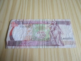 Malte.Billet 2 Liri 1967. - Malta