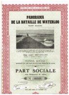 Action Ancienne - Panorama De La Bataille De Waterloo - Titre De 1953 - Titre N° 01544 - Tourisme