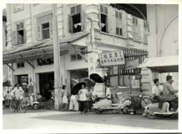 Malay Malaysia, PENANG (?), Unknown Street Scene, Scooters (1940s) Real Photo - Malaysia