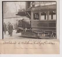 ACCIDENT D'AUTOBUS RUE GAY LUSSAC  LES GOBELINS 9*13CM Maurice-Louis BRANGER PARÍS (1874-1950) - Trenes