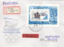 DDR Block 90 Auf R-Eilboten-FDC - FDC: Enveloppes