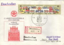 DDR 3168/69 Auf R-Brief - Briefe U. Dokumente