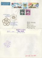DDR 3248/49,2752,3128 Auf Retour-Brief Nach Nordkorea - Briefe U. Dokumente