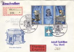DDR 3252/53,2831 Auf R-Eilboten-Brief - Briefe U. Dokumente