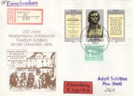 DDR 3254/55,2484 Auf R-Eilboten-Brief - Briefe U. Dokumente